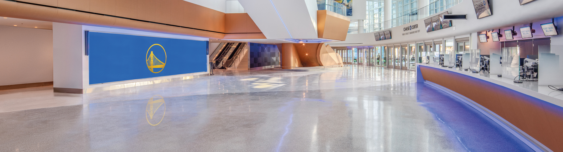 Chase Center West Entrance Lobby View 3_photo credit_Jason O'Rear and Chase Center_Banner1