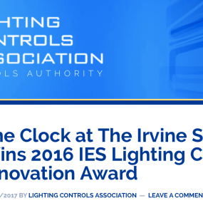 """The Clock "" Project wins Lighting Controls Award"
